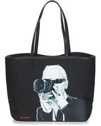 Karl Lagerfeld Boodschappentas Karl Legend Photographer - Zwart