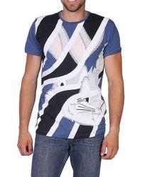 6302 Azul hombre Camiseta F01b para 17ei1p0 Hombre Kcl1J3FT