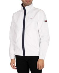 Tommy Hilfiger Essential Casual Lightweight Jacket Tracksuit Jacket - White