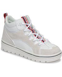 Skechers Hoge Sneakers Street Cleats 2 - Wit