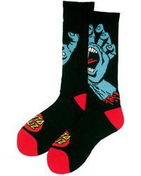 Santa Cruz - Screaming Hand Socks - Black Men's Stockings In Black - Lyst