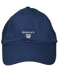 GANT - Casquette basique bleu marine - Lyst
