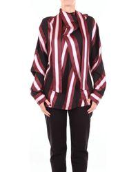 Cedric Charlier A02038926 femmes Chemise en Autres - Rouge
