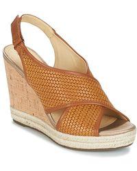 Geox - Janira C Women's Sandals In Brown - Lyst