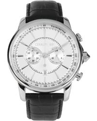 Cerruti 1881 - Cra073a212h Men's Analogue Watches In Black - Lyst