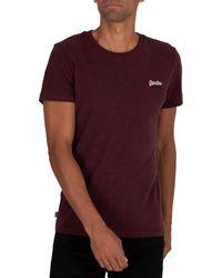 Superdry T-shirt T-shirt EMB vintage - Rouge