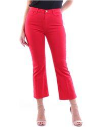 Manila Grace S0ZJ400CU Pantalon - Rouge