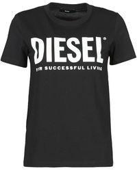 DIESEL Camiseta 00SYW8-0CATJ-900 - Negro