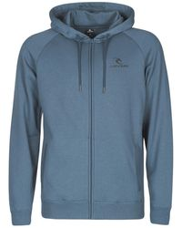 Rip Curl Sweater Surf Co. Hooded Zip Through Fl - Blauw