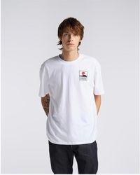 Edwin 45121MC000131 MT FUJI TS T-shirt - Blanc