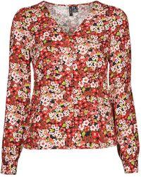 Vero Moda Camicia Vmsimply Easy - Rosso