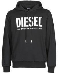 DIESEL Sweater Gir-hood-division - Zwart