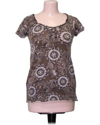 S.oliver Top manches courtes - Taille 34 Blouses - Marron