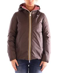 K-Way Abrigo de plumas MARGUERITE THERMO PLUS DOUBLE chaquetas mujer marrón