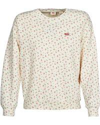 Levi's Sweater Levis Standard Crew - Wit
