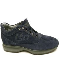 Byblos Blu - Suede Leather Men's Shoes (trainers) In Blue - Lyst
