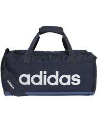 adidas Linear Logo Duffle Bag FM6745 - Azul