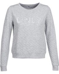 ONLY - Onljoyce Women's Sweatshirt In Grey - Lyst