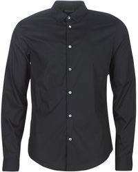 Emporio Armani Overhemd Lange Mouw 6g1c09-1n6rz-0999 - Zwart