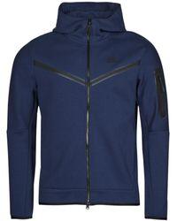 Nike Trainingsjack Sportswear Tech Fleece - Blauw