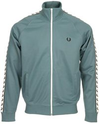 Fred Perry Trainingsjack Taped Track Jacket - Blauw