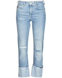 G-Star RAW Jeans NOXER HIGH STRAIGHT WMN - Azul