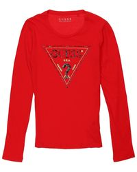 Guess T-shirts a maniche lunghe Guess. -. colore - Rosso