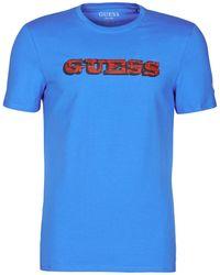 Guess PROMO CN SS TEE T-shirt - Bleu
