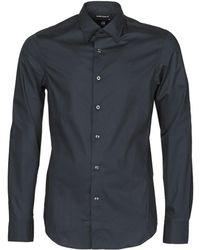 G-Star RAW Camicia A Maniche Lunghe Dressed Super Slim Shirt Ls - Nero