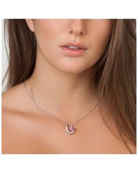 Sc Crystal BS1351-ROSE Collier