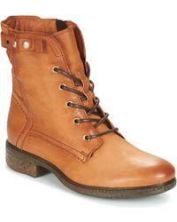 Dream in Green - Ervane Women's Mid Boots In Brown - Lyst