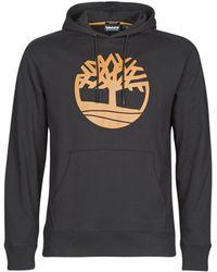 Timberland Sweater Core Logo Tree Pullover Hoodie (loopback) - Zwart