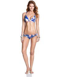 Maaji - Bikini Bottom Blue Multicolour - Once Upon A Pool Women's In Blue - Lyst