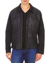 Chevignon - Brewa Men's Leather Jacket In Blue - Lyst