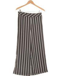 H&M Pantalon Bootcut Femme 34 - T0 - Xs Pantalon - Noir
