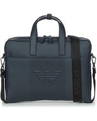 Emporio Armani Logo Briefcase - Black