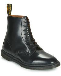 Dr. Martens Botas con 8 ojales en negro pulido suave Winchester