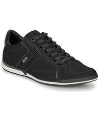 BOSS by Hugo Boss Lage Sneakers Saturn Lowp Nupf - Zwart