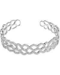 Cleor Bracelets Jonc en Argent 925/1000 et Oxyde Blanc Femme - Métallisé