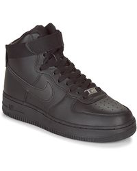 Nike Hoge Sneakers Air Force 1 High W - Zwart