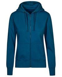 Promodoro Veste Sweat Capuche Zippée X.O Femmes Sweat-shirt - Bleu