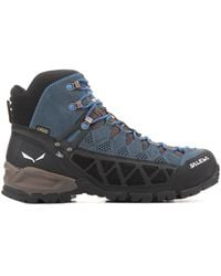 Salewa Ms Alp Flow Mid Gtx 63424-0940 Walking Boots - Blue