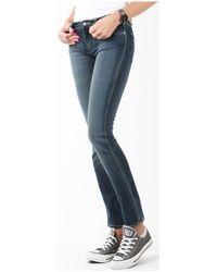 Wrangler Courtney Storm Break W23SP536V Jeans skinny - Bleu