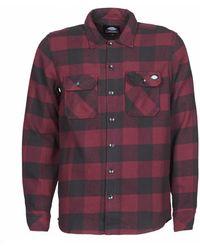 Dickies Overhemd Lange Mouw Sacramento - Rood