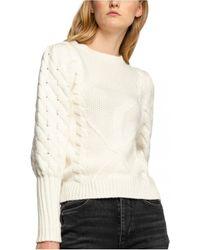Guess Pull avec laine en maille - Blanc