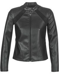 Guess Leren Jas Philothea Jacket - Zwart