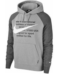 Nike Sweater Swoosh - Grijs