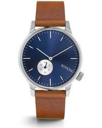 Komono Horloge Blue Cognac - Blauw