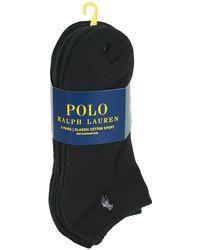 Polo Ralph Lauren Calcetines ASX117 X6 - Negro