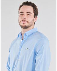 Lacoste Overhemd Lange Mouw Pitta - Blauw